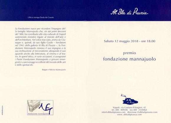 Premio Fondazione Mannajuolo 2018