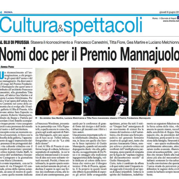 Premio Fondazione Mannajuolo 2019